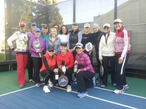 Julie and her paddle tennis group.