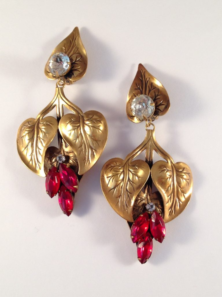 Joseff of Hollywood dangle earrings. From the collection of Ladybug Vintage