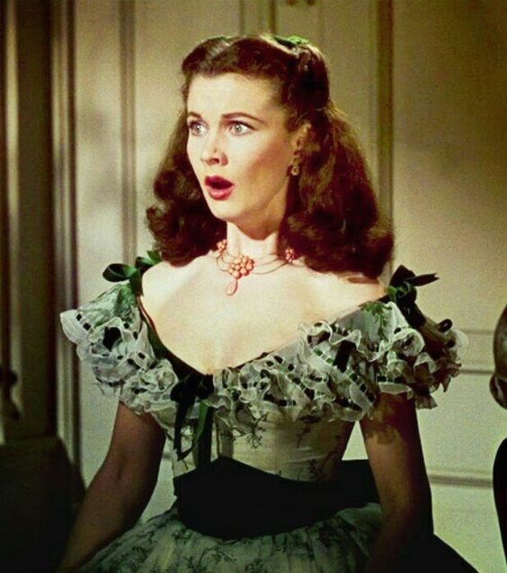 Vivien Leigh wearing Joseff jewelry in 1939 in Gone with the Wind.