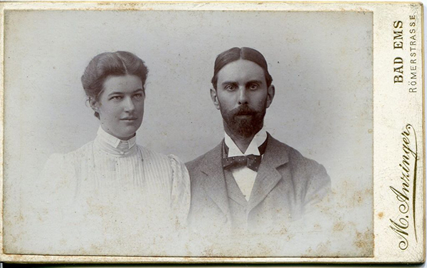 A photograph of the couple.