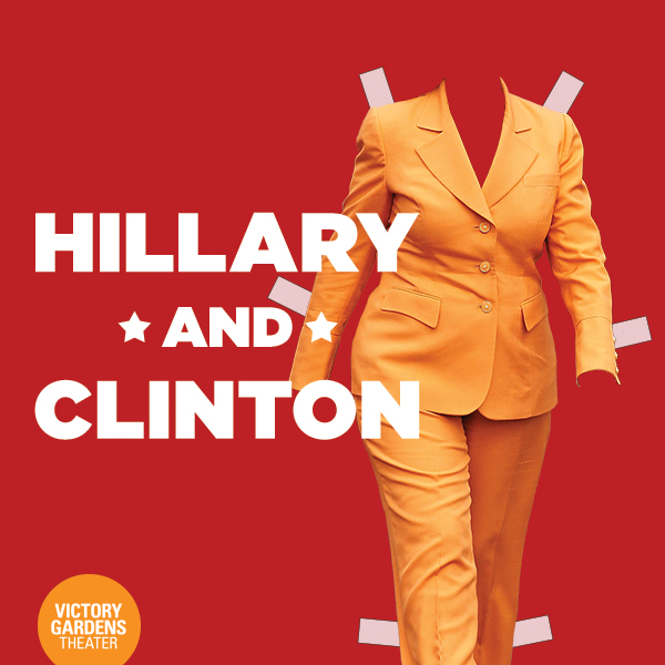 The infamous pantsuit highlighted in the play's poster.