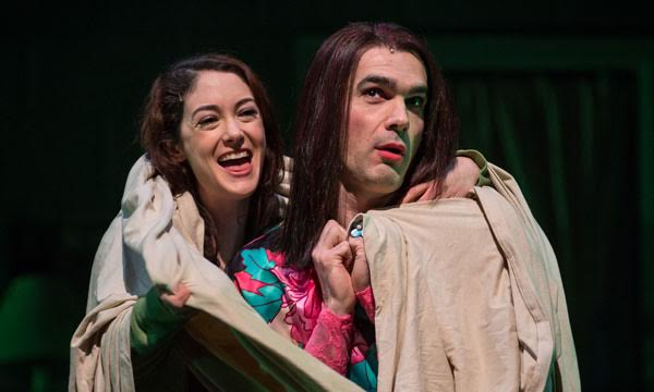 Helen Cespedes with Dan Domingues in Another Word for Beauty at the Goodman Theater.