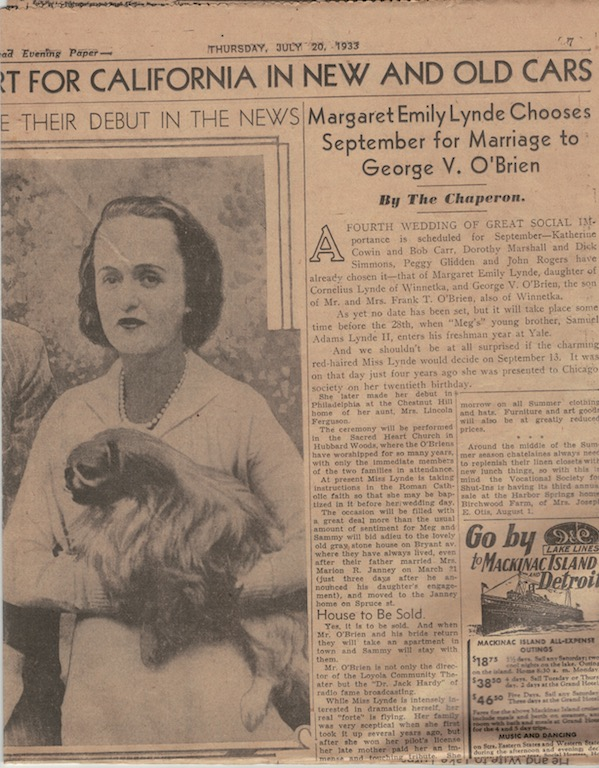 The facing page of the article about the family's adventure in the U.S.