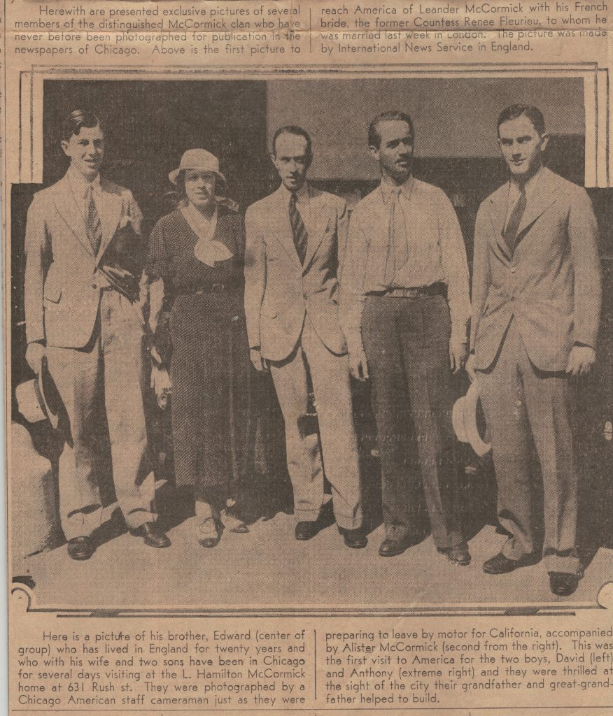 David, on the far left, who would have been around 18 at the time of their American vacation.