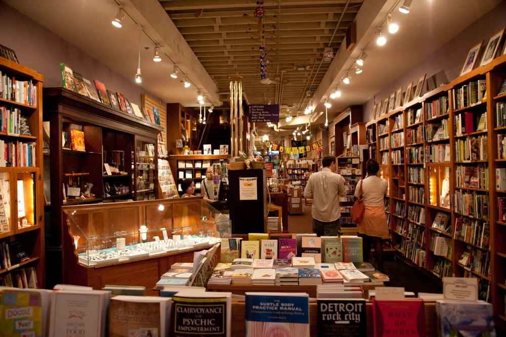 Grab a cup of tea upstairs while you enjoy your new literary purchase at Crazy Wisdom.