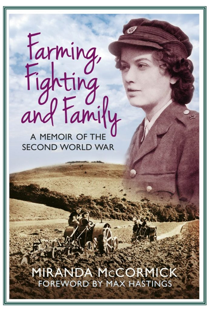 """A flyer for Miranda McCormick's """"Farming, Fighting and Family."""""""