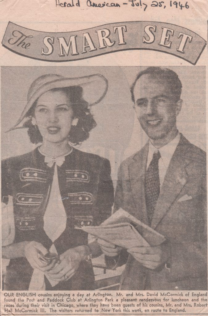 A clipping from the Herald American from July 25, 1946.