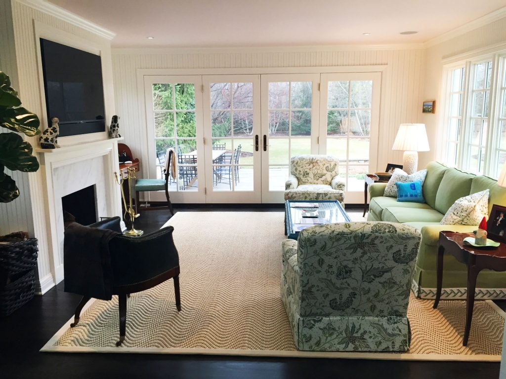 A bright and inviting family room that is equal parts elegant and livable.