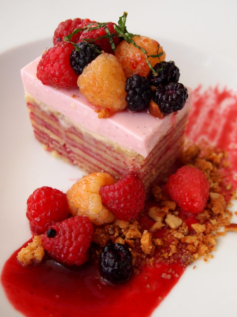 Save room for something sweet: Etoile's Raspberry Layer Cake. Photo by Samantha Egelhoff.