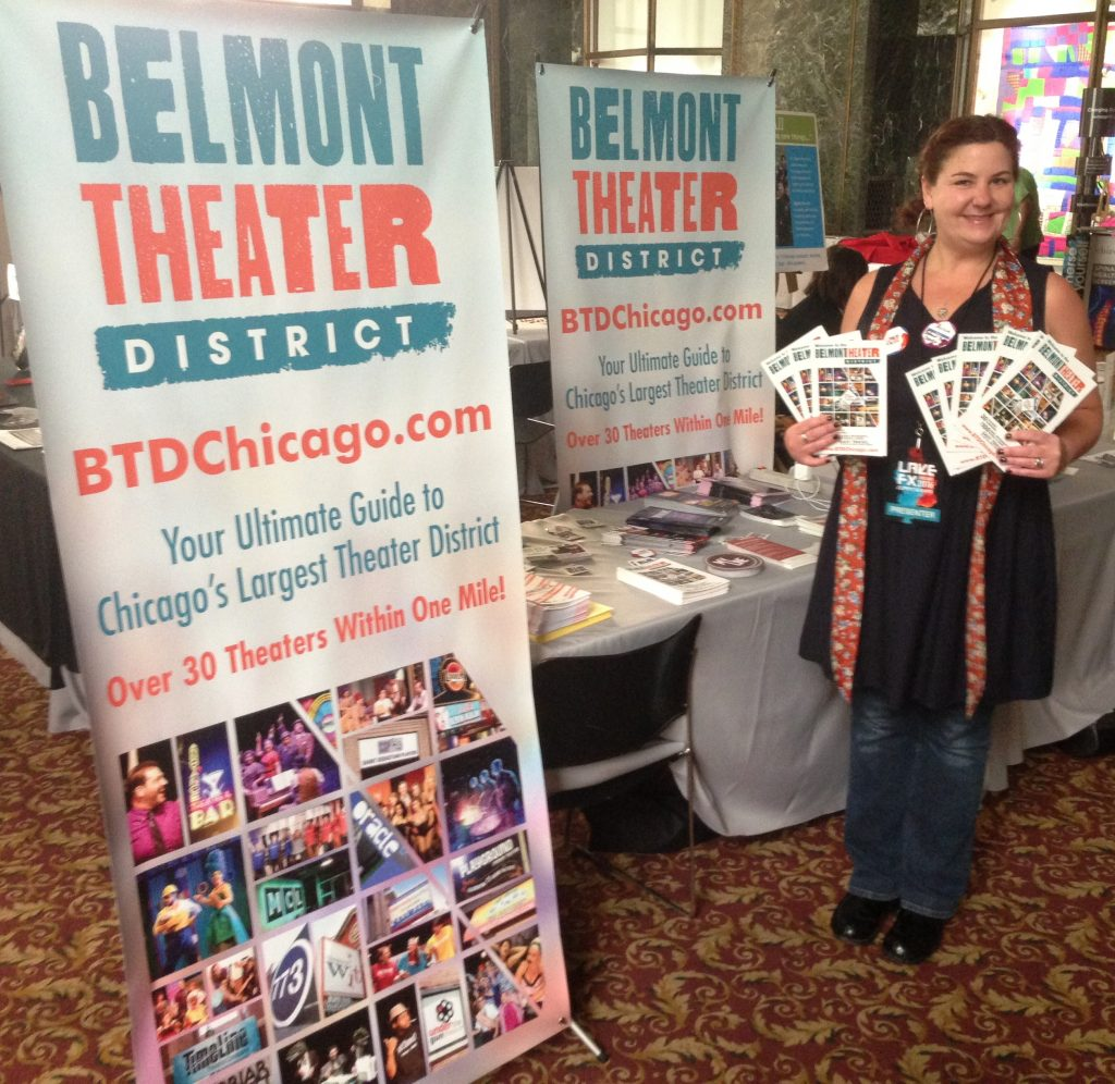 Alicia Singer-Saywell, lifelong fan of theater and of its biggest advocates in Chicago.
