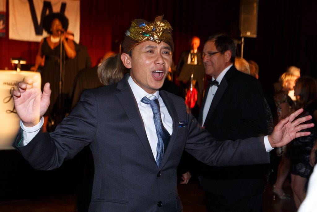Anton Pulung dancing in celebration at the Episcopal Charities Ball 2016.