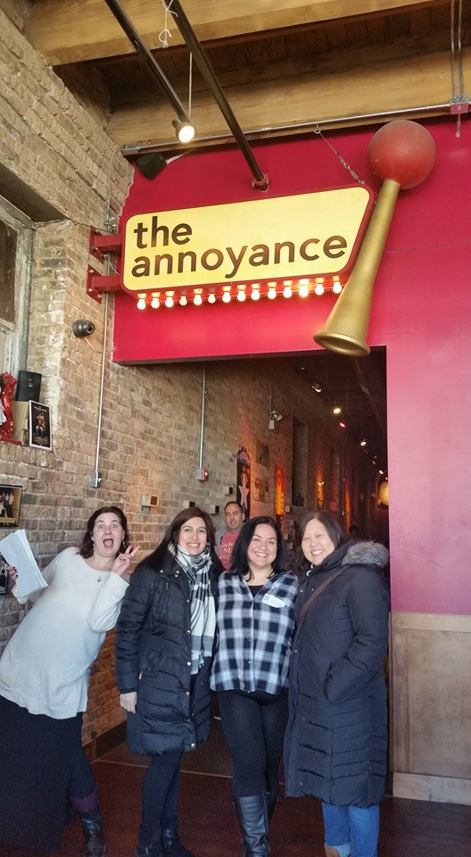 On an open house tour in February at The Annoyance Theatre.