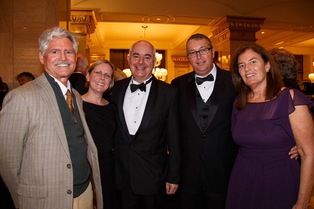 Bryan Cressey; Alison and Dominic Barrington, Dean Of St. James Cathedral; the new director of St. Leonard's Ministries, Erwin Mayer, and his wife, Jennifer.