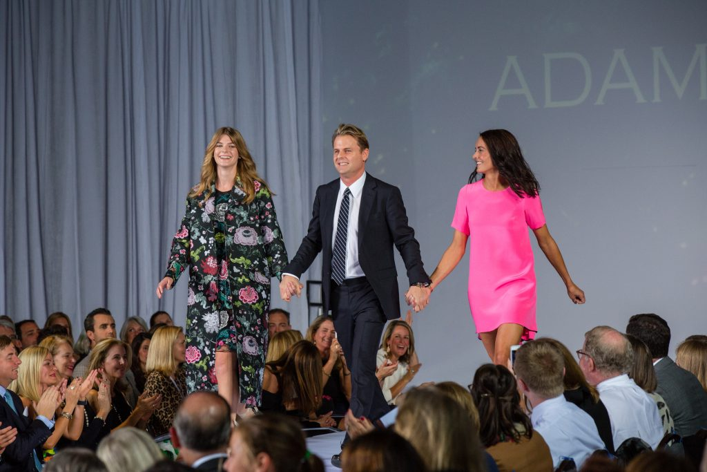 Designer Adam Lippes (center) takes the stage with Caroline Healy and Megan Hoffman.
