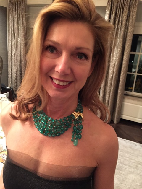 One of the evening's hostesses, Cindy Chereskin, glamorous in Verdura.