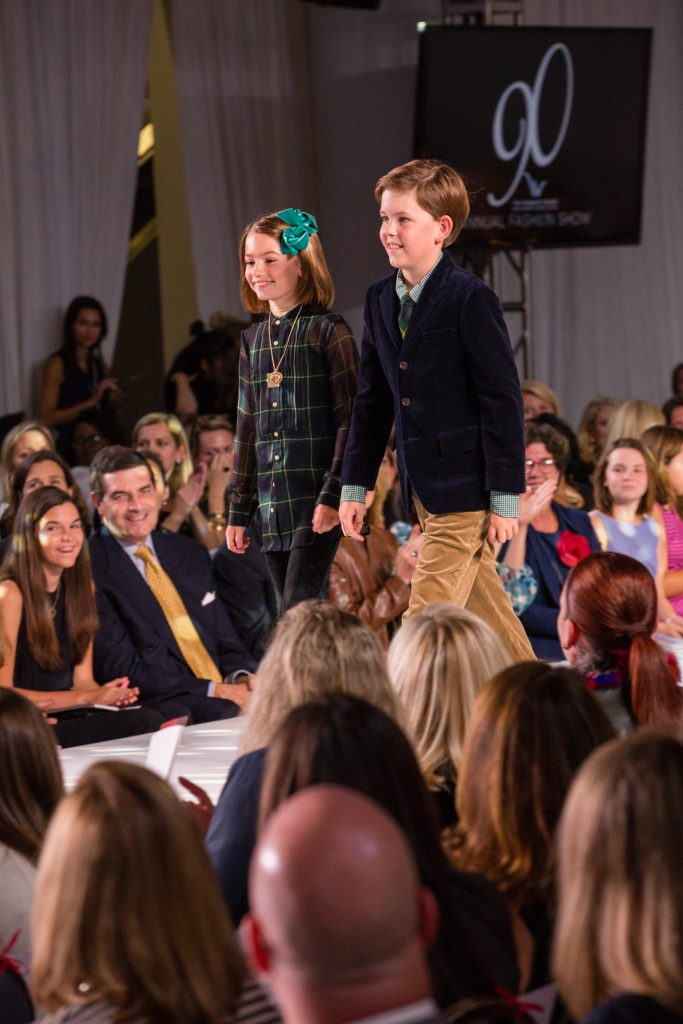 The brother and sister duo of Collie and Kolben Kasten modeling looks by Ralph Lauren.