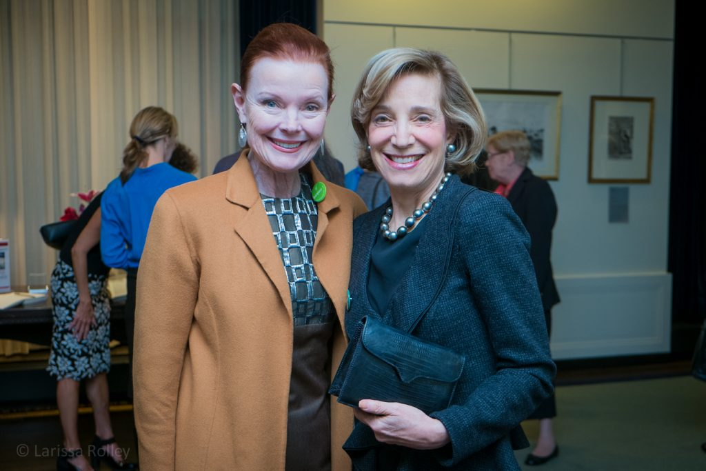 Mary Ellen Connellen, Chair of the Woman's Board, and Betsey Pinkert, board member.
