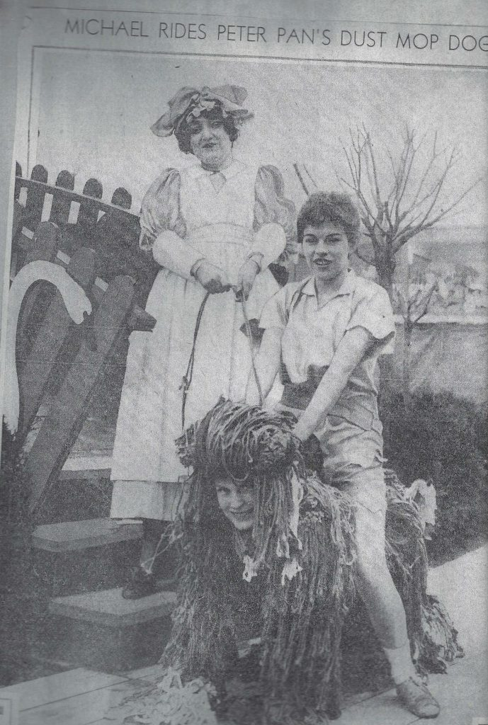 Peggy Carr as Nana in a production of Peter Pan at the World's Fair.