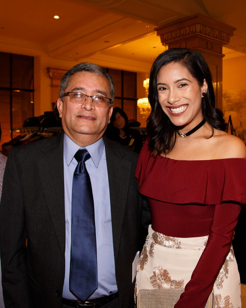 Reverend Alvaro Araica, Head of Hispanic Ministry of the Episcopal Diocese of Chicago, and his daughter Veronica.