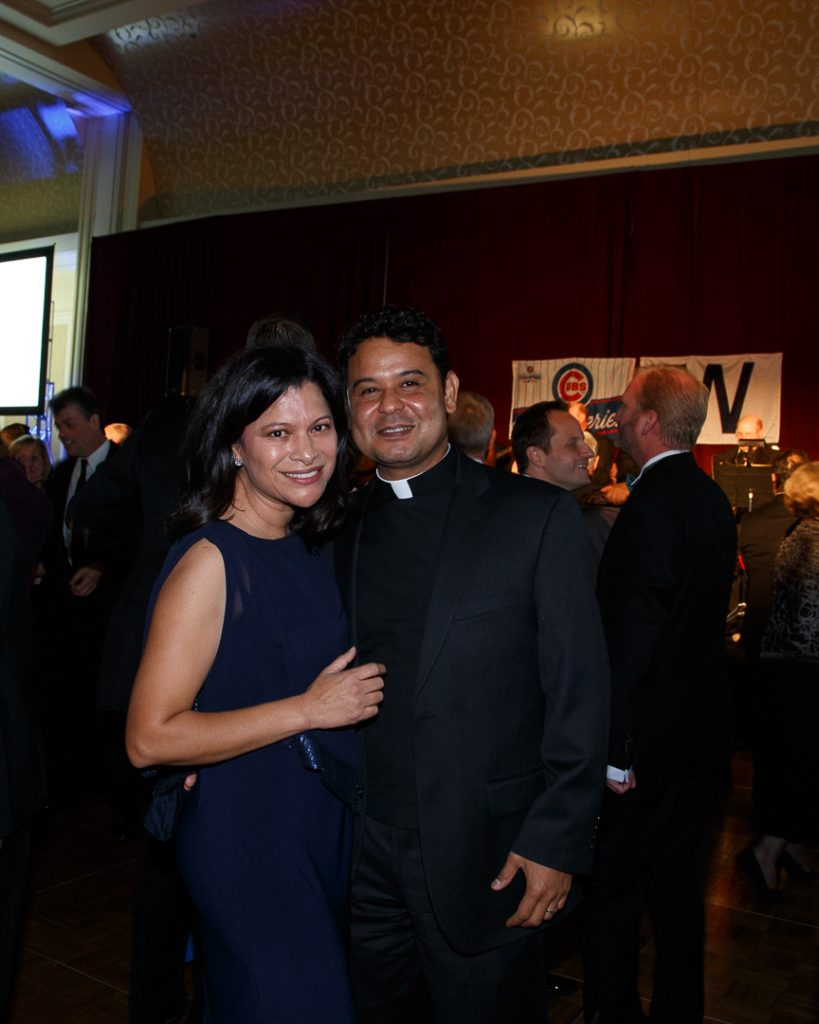 Reverend Victor Conrado, Assistant Rector for Spanish Language Ministries, and his wife, Lucia (at left), of St. Mark's in Glen Ellyn.