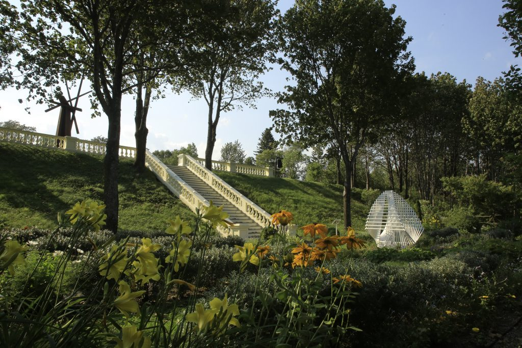 Stairs to the flower garden.