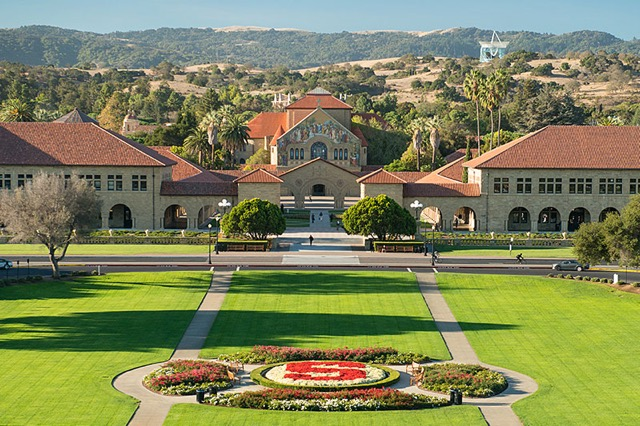 The beautiful surroundings of Stanford.