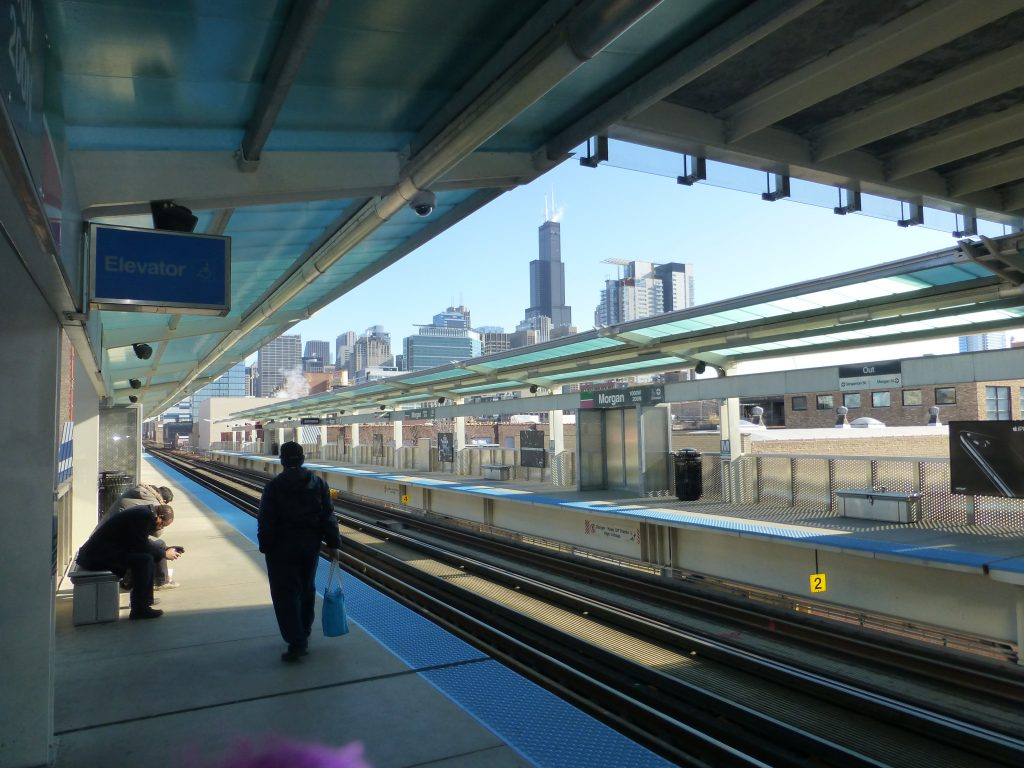 City view from Morgan Street Station.