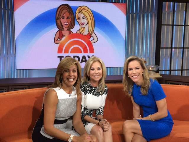 Allison, at right, with Hoda Kotb and Kathie Lee Gifford.
