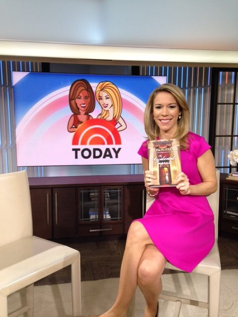 Allison shows off her book at the Today Show.