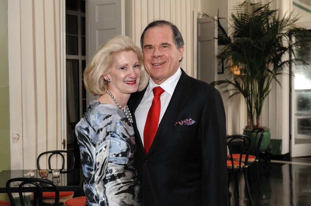 Out-going OMS Program Chair, Laurie Bay, with her husband, Jim Bay, Art Institute Trustee.