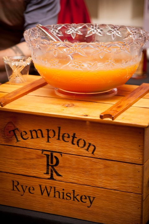 A prohibition-style punch, courtesy of Lead Sponsor Templeton Rye.