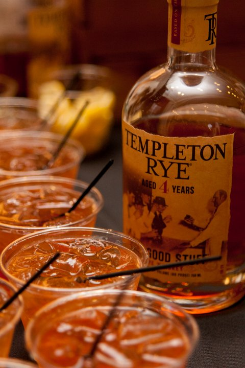 Lead Sponsor Templeton Rye created cocktails in perfect prohibition style.