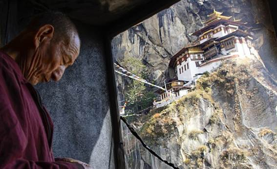 Tiger's Nest Monastery, which clutches a 900-meter cliff, is one of Bhutan's national treasures. Visitors can ascend from Amankora Paro lodge to the ancient monastery, where Buddhism is said to have arrived in Bhutan.