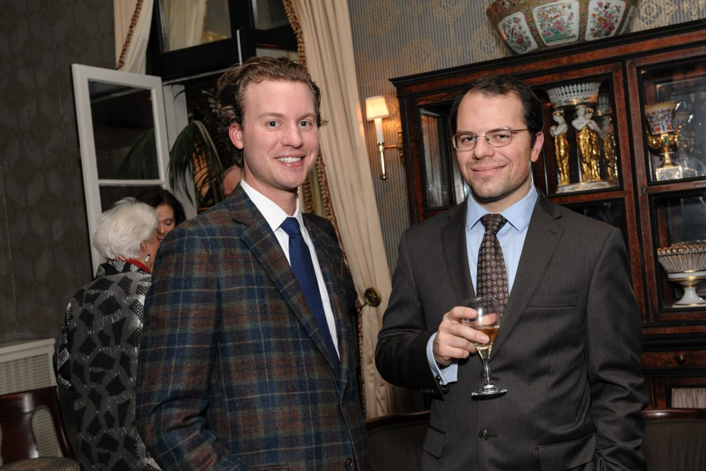 William Beggs IV with Jonathan Tavares, Associate Curator of Arms and Armor, AIC.