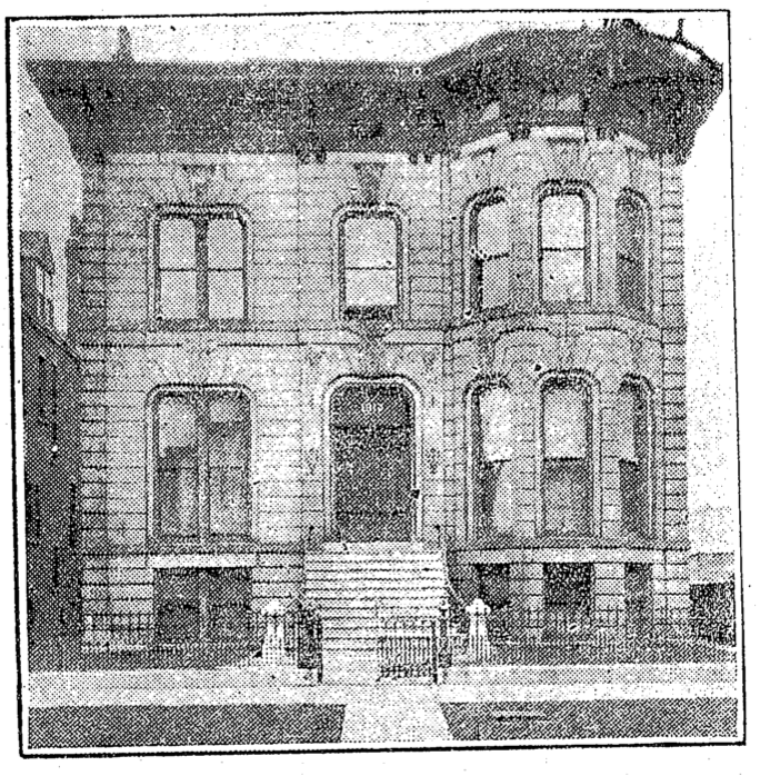 A clipping of the building from 1921.