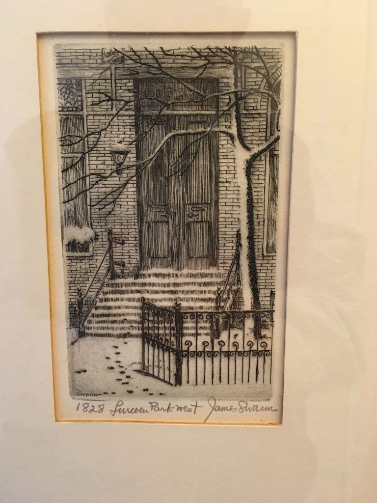 "Sketch of an Old Town home by James Swann from the collection of Old Town art of Bob Friedlander, who feels artists came to the neighborhood because ""the rent was low, the space generous, and you could walk to Old Town bars."""
