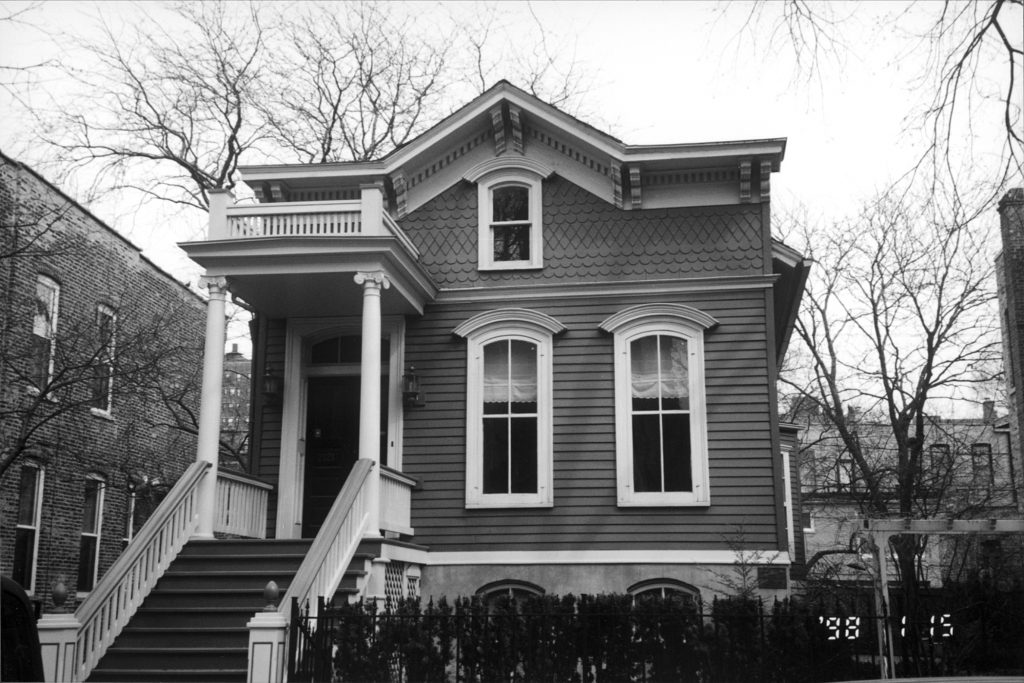 The Richard Bellinger house at 2121 North Hudson was the only house in Old Town to survive the Great Chicago Fire of 1871.