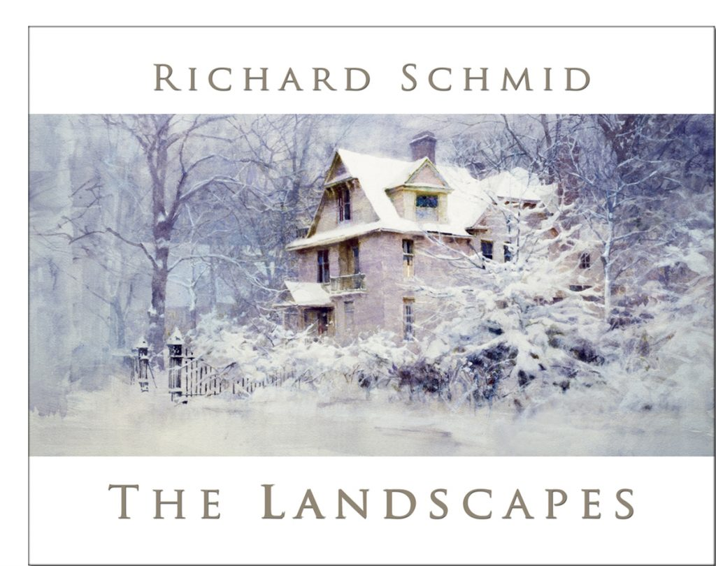 The cover of The Landscapes, the largest collection of Schmid's landscape paintings in one book.