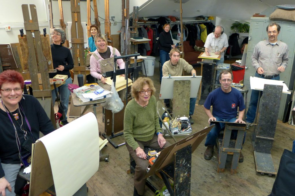 Some members of the Palette & Chisel community. Photo by Del Hall.