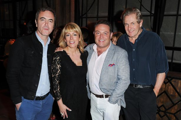 The cast of Cold Feet, Robert at far right.