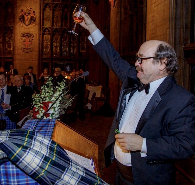 Brad Armacost toasts the memory of Robert Burns.