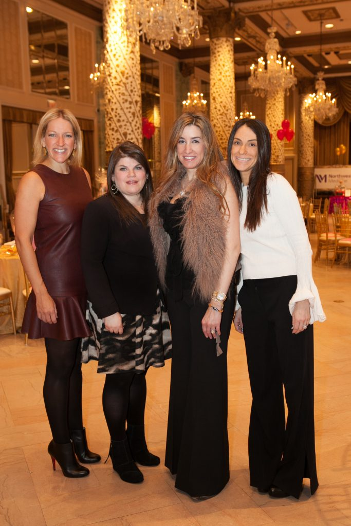 Event Co-Chairs Libby Langsdorf (Chicago), Sarna Lee Goldenberg (Glencoe), LSCRF Chair Julie Lampert, and Be My Valentine Event Co-Chair Jennifer Meyers (Chicago).