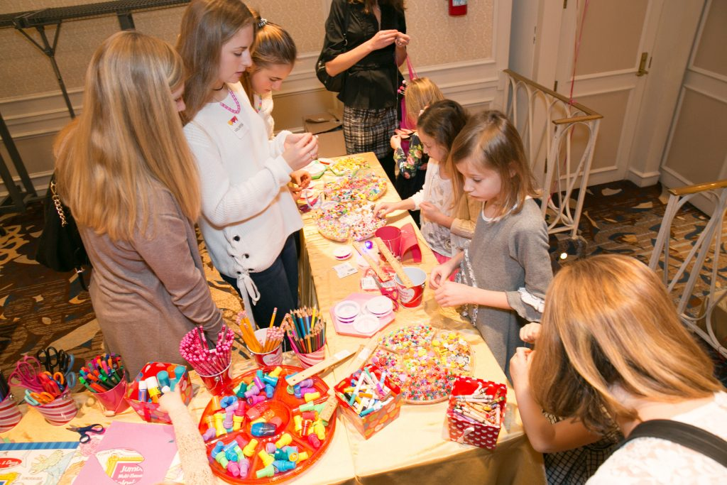 LSCRF's youngest supporters make crafts with donor Sew Crafty Studio.