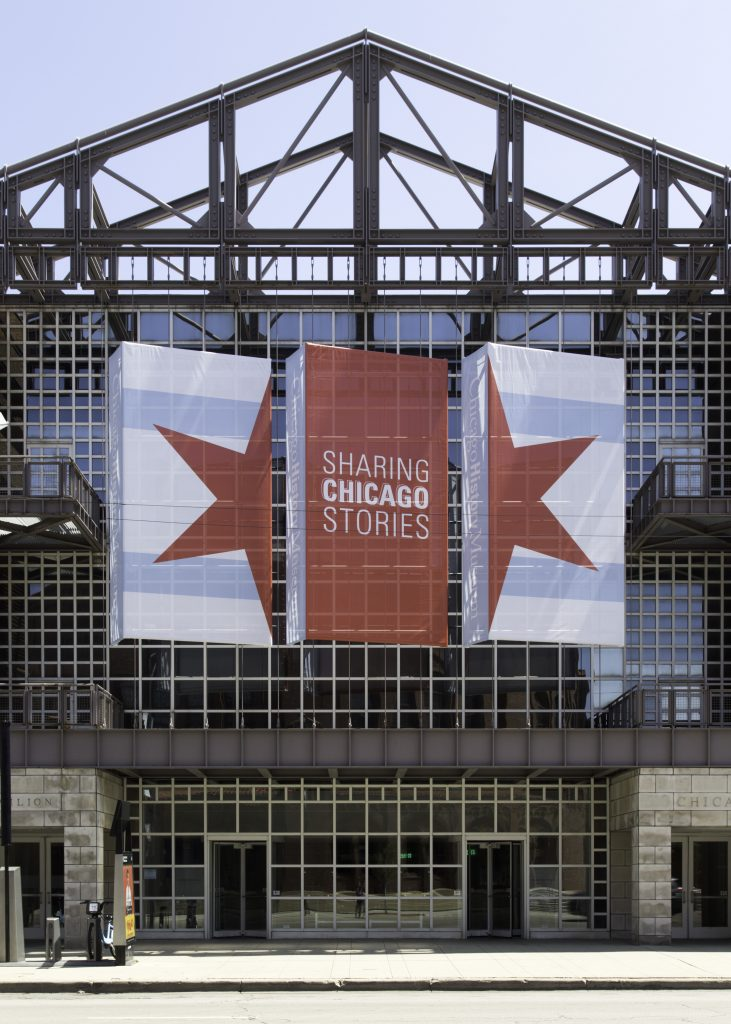 The welcoming entrance to the Chicago History Museum.