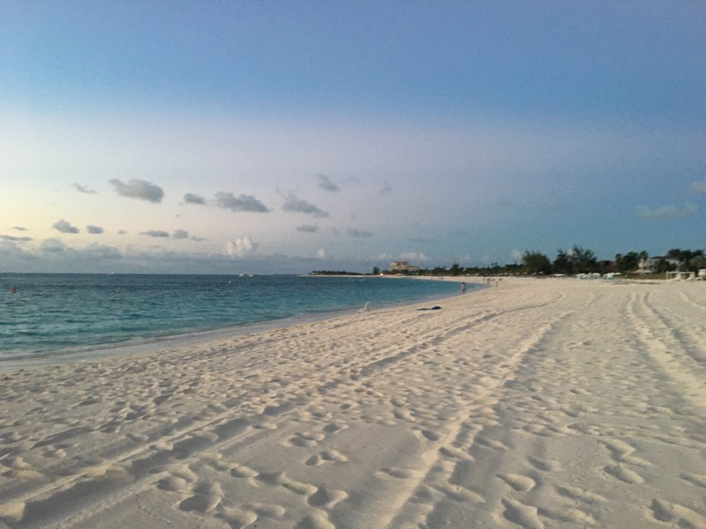 The white sand beaches of Turks and Caicos.